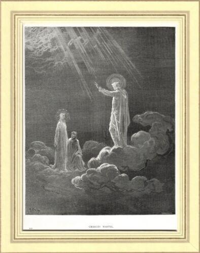 PARADISO: DANTE, BEATRICE E CARLO MARTELLO. Di Gustave Doré.Divina Commedia.1890