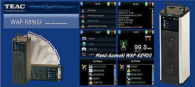 TEAC WAP-R8900 Aussteller Silber UKW Internetradio USB SD WLAN Akku WAP R 8900