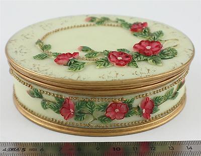 "JOB LOT X 5 Antique style ""GEORGIA ROSE"" ,Jewellery/Trinket box. 58413"