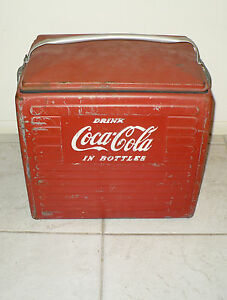 "ANTIQUE COCA COLA COOLER "" DRINK COCA COLA IN BOTTLES ..."