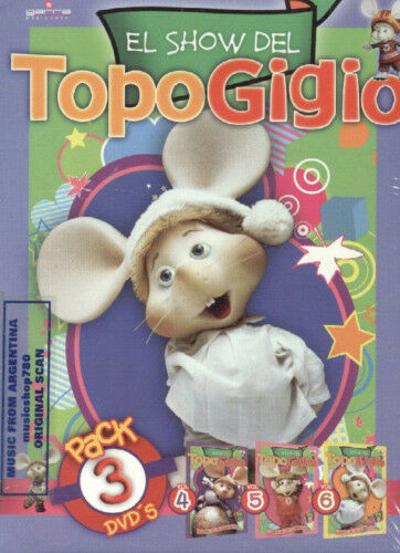 3 DVD SET EL SHOW DEL TOPO GIGIO VOL 4 5 & 6 IN SPANISH