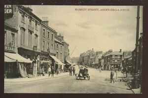 Leics-ASHBY-DE-LA-ZOUCH-Market-St-PPC-early-car