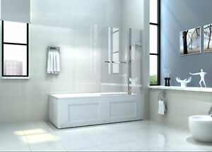 NEW-6mm-GLASS-DOUBLE-OVER-BATH-SHOWER-SCREEN-WITH-SHELF