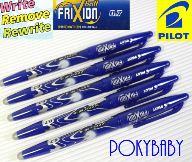 free shipping 5pcs Pilot FriXion 0.7mm erasable roller ball pen BLUE INK
