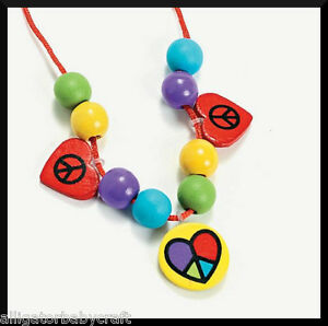 Peace and Love Heart Charm Necklace Craft Kit for Kids ABCraft Girls Jewelry Kit