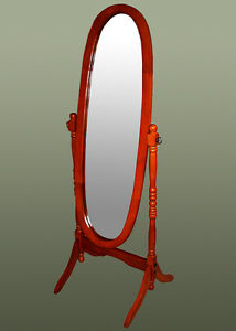 New-Mahogany-Retro-Floor-Standing-Full-Length-Mirrors-Wood-French-Cheval-Mirror