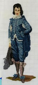 VINTAGE-PRE-WORKED-NEEDLEPOINT-CANVAS-TAPESTRY-BY-DRITZ-0906