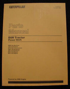 CATERPILLAR-D8R-POWER-SHIFT-CRAWLER-TRACTOR-PARTS-CATALOG-400-PAGES-MINTY