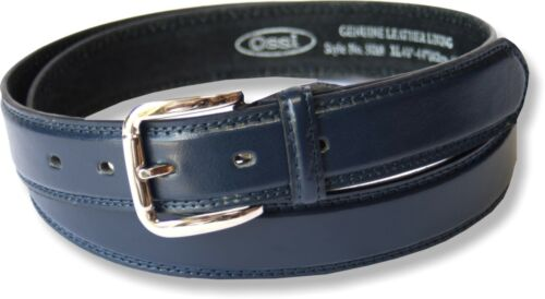NEW MENS LEATHER LINED SUIT TROUSER WAIST BELT NWT 5 COLOURS MADE BY OSSI