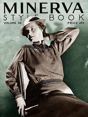 Minerva #36 c.1934 Glamorous Vintage Knitting Patterns - Women's 1930's Fashions