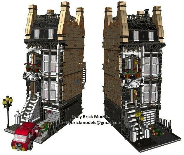 City Terrace 2 Modular Instructions Custom House Friends Light Building Set Town