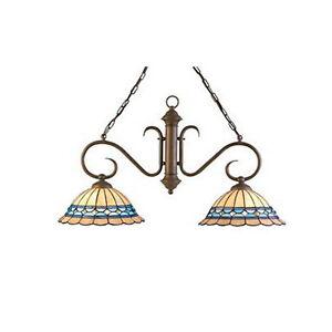 Kichler-Art-Nouveau-Bronze-Chandelier-Island-Light-NIB