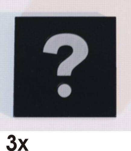604 3068bpb198 3 St NEUE 2x2 Fliesen schwarz mit Fragezeichen