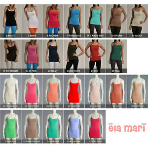 High-Quality-Seamless-Spandex-Cami-Camisole-Layering-Long-Tunic-Tank-Top-ONESIZE