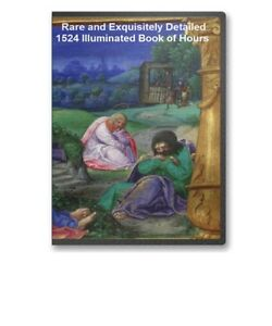 Historic-1524-Illuminated-Book-of-Hours-Manuscript-on-CD-B79