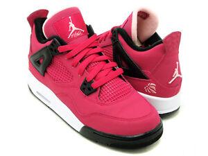 Nike-Air-Jordan-4-IV-GS-Voltage-Cherry-Pink-Love-Heart-487724-601-Girl-Size-Shoe