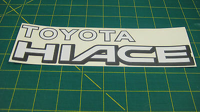 Toyota Hiace Commercial Van 1992 - 2001 Rear tailgate Replacement Decal Sticker