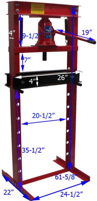 20 Ton Hydraulic Shop Press - Brand New