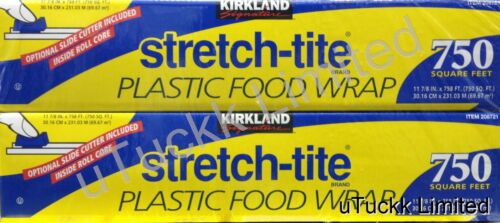 Plastic Food Wrap Stretch-tite Kirkland Cling Clear with Optional Slide Cutter