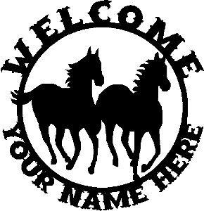 Custom-Western-Horses-WELCOME-Sign-Steel-DES2