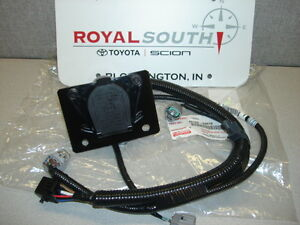 toyota tacoma 7 pin tow harness connector genuine factory ... trailer wiring harness toyota tacoma