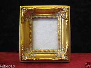 2-3-8-x-3-Inch-Wallet-Size-Gold-Ornate-Sm-Picture-Frame