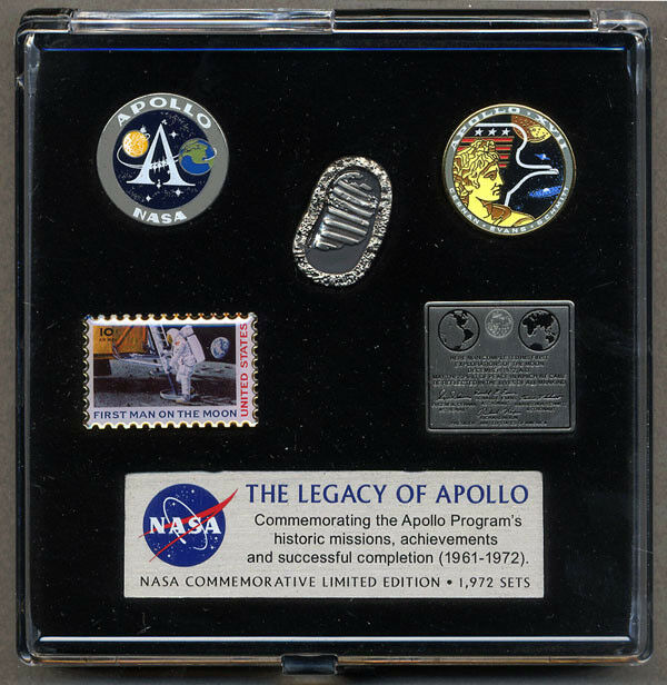 APOLLO 11 17 PROGRAM 40th ANNIVERSARY / LIMITED EDITION BOXED PIN SET SOLD OUT