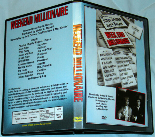 "WEEK END MILLIONAIRE - DVD - Charles 'Buddy"" Rogers"