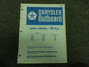 1967 Chrysler Outboard 35 HP Parts Catalog | eBay