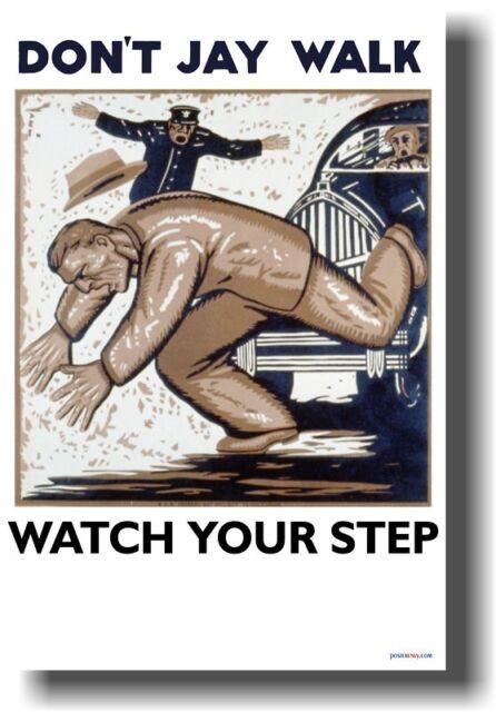 Vintage Art - Don't Jay Walk WPA Print NEW POSTER