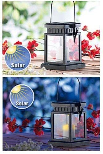 Asia-DEL-Lanterne avec fonctionnement solaire-NEUF /& IMMÉDIATEMENT