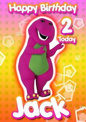 Barney birthday cards collection on ebay personalised barney birthday card bookmarktalkfo Gallery