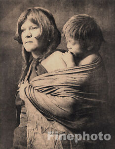 Native American Mother And Child Art 1972 Folio Size NATIVE...