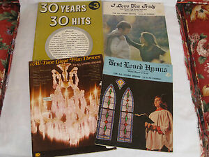 Lot of 4 Vintage Song Books / Sing-A-Long Books