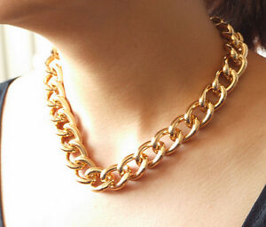 BIG-SMOOTH-GOLD-ALUMINIUM-CURB-LINK-CHAIN-NECKLACE-HEAVY-18MM-WIDE-18-034-24-034-38-034