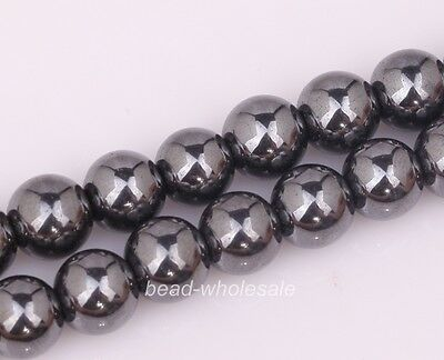 Wholesale Black Color Magnetic Hematite Ball Findings Spacer Beads for Bracelet