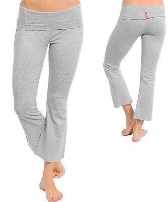 6 Colors -S,M,L- Stretchy,Cotton,Fitness Capri Yoga Foldover Pants Blac,Blue...