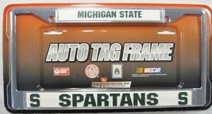 image is loading michigan state university spartans metal license plate frame - Michigan State License Plate Frame