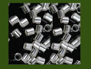 925 silver crimp beads, 2 x 2 mm, x120