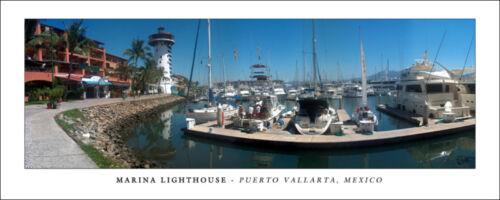 Poster Puerto Vallarta Mexico Panorama Marina Lighthouse Fine Art Photo Print