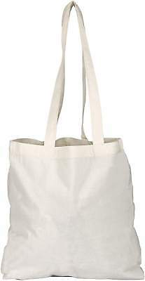 10  NATURAL COTTON TOTE SHOPPER BAGS - 4 COLS LOW PRICE