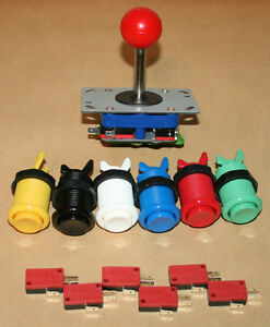 Arcade-Set-3-mit-1-Joystick-2-4-8-Wege-amp-6-Taster-Mame-Automat-Jamma-Kit