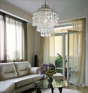 New-Modern-Vemer-Panton-Fun-1DM-Pendant-Light-Natural-Shell-Ceiling-Lamp-Light