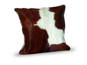 Cowhide-Pillow-Cover-Cushion-Cow-Hide-Hair-on-cover-16-034-x-16-034-Brown-and-White