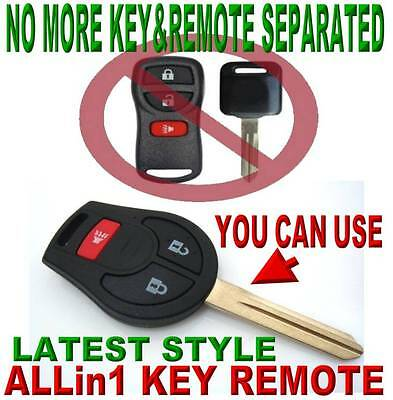 NEW UNCUT CHIP KEY REMOTE FOR 07-08 NISSAN X-TRAIL BEEPER KEYLESS ENTRY FOB 3D1