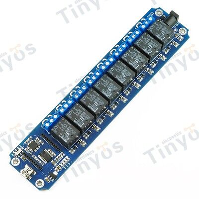 USB/Wireless Relay 8 Channel  Module (Xbee,Bluetooth,WIFI ) +cell phone control