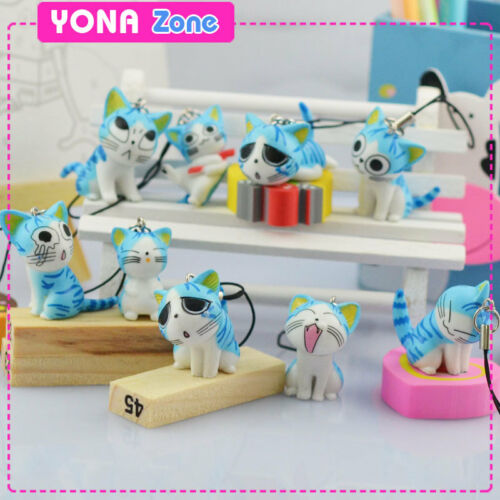 Lot of 9pc Blue Chi's Sweet Home Phone Strap Cute Kitty Charms Cat Keyhains