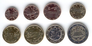 Greece-2007-Set-of-8-Euro-Coins-UNC