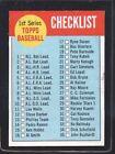 1963 Topps Checklist #79 Baseball Card