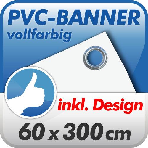 Werbebanner Werbeplane Banner LKW Plane 60x300 cm inkl Design prof